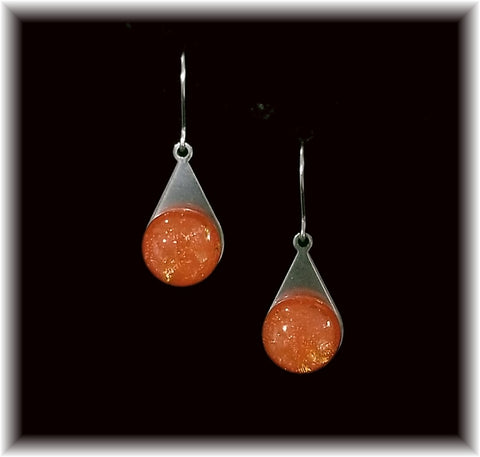 Orange Stainless Teardrop Earring