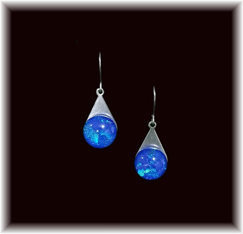 Royal Blue Stainless Teardrop Earring