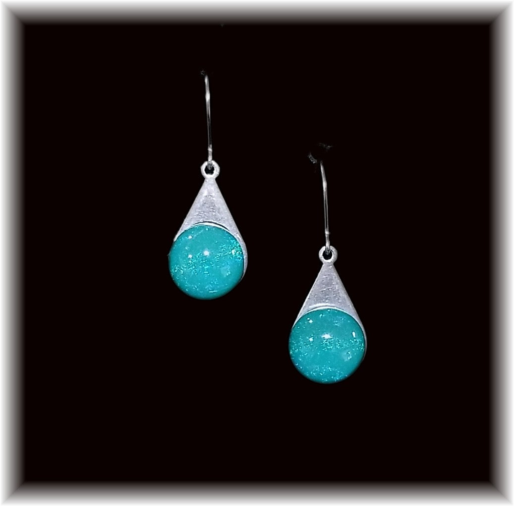 Turquoise Stainless Teardrop Earring