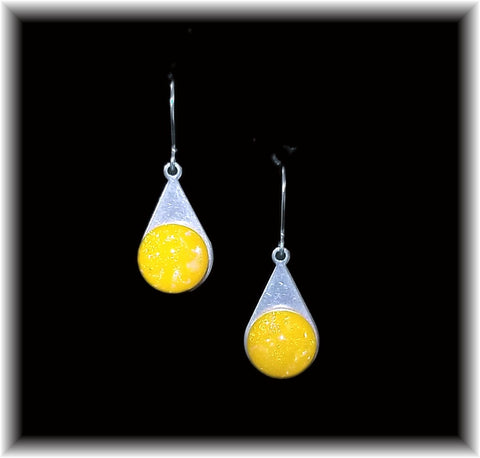 Yellow Stainless Teardrop Earring