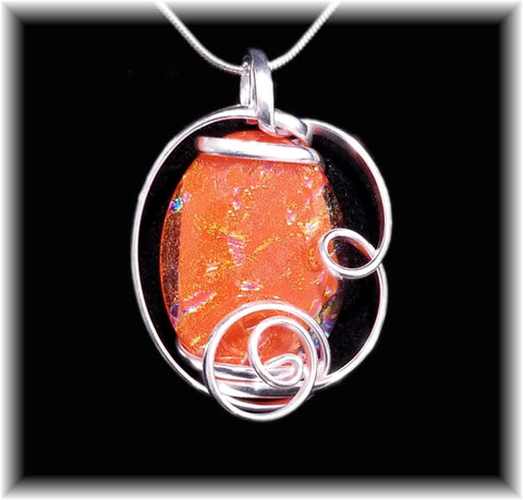 Orange Freeform Pendant