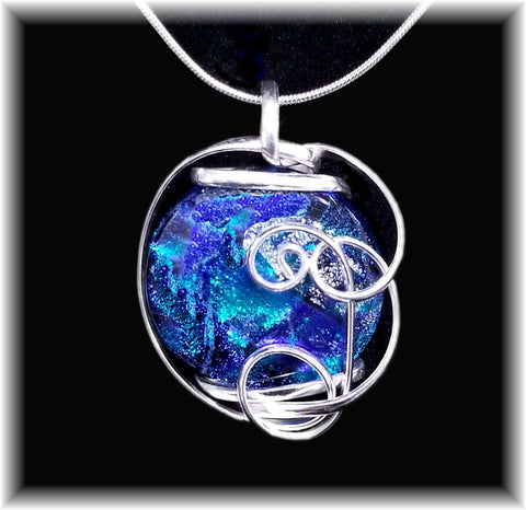 Blue Freeform Pendant