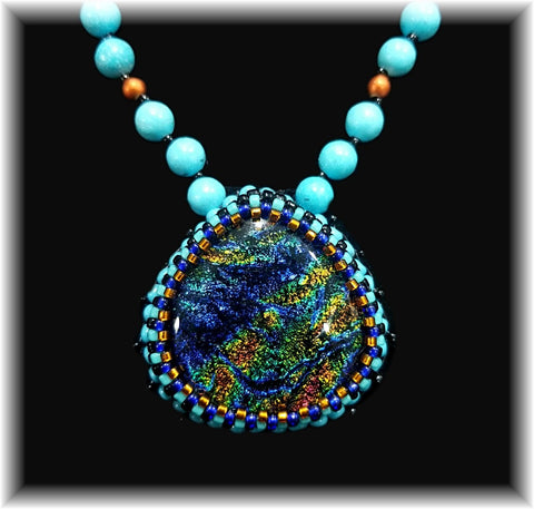 Multi Bead Embroidered Necklace