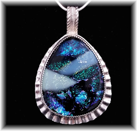 Sterling Multi Dichroic Pendant