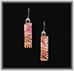 Tiger Long Rectangle Dangle Earrings