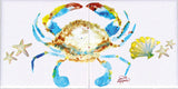 Crab & Shells Tile Mural, High Quality (won't fade), Indoor or Outdoor, Beach Wall Tiles, Backsplash, Shower, Mosaic
