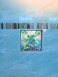 Turtle Turquoise Mosaic Tile Mural, High Quality (won't fade), Indoor or Outdoor, Beach Wall Tiles, Backsplash, Shower