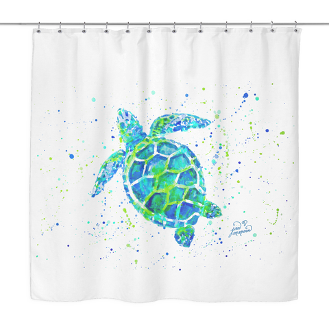 Wonderful Sea Turtle Shower Curtain