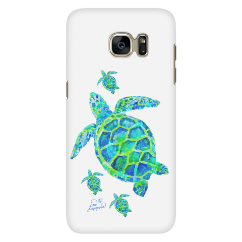 Turtle with babies Galaxy S7 cell phone case