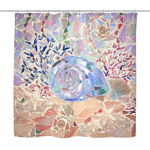 Seashell & Coral Shower Curtain
