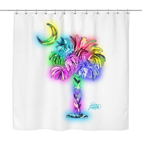 South Carolina is Amazing glow shower curtain