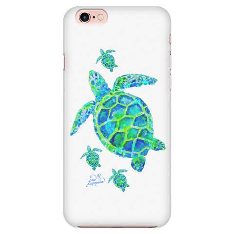 Turtle with babies iPhone 7/7s cell phone case