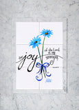 Joy of the Lord Tile Mural (blue), High Quality (won't fade), Indoor or Outdoor, Kitchen, Bath, Backsplash, Shower, Mosaic, Commercial & Residential