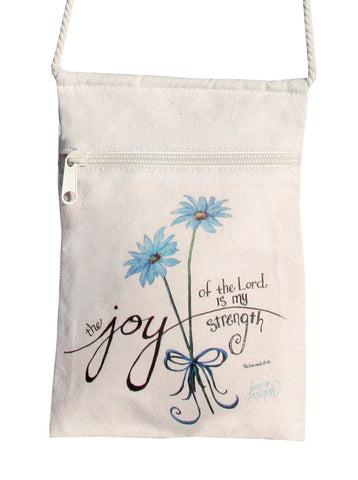 Joy of the Lord Small Cell Phone Cotton Crossbody Purse