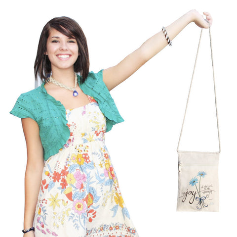 Joy of the Lord Small Cell Phone Crossbody Cotton Purse