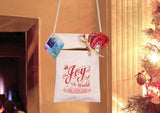 Christmas Cell Phone Purse w/Joy to the World bible verse, Cotton Canvas w/Zipper & rope strap