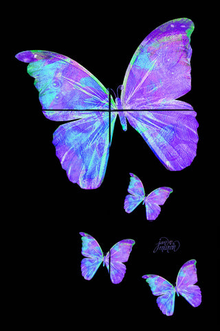 Purple Butterflies Tile Mural, High Quality (won't fade), Indoor or Outdoor, Beach Wall Tiles, Backsplash, Shower, Mosaic