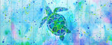 Turtle with background Tile Mural, High Quality (won't fade), Indoor or Outdoor, Beach Wall Tiles, Backsplash, Shower, Mosaic