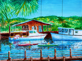 Shem Creek Tile Mural, High Quality (won't fade), Indoor or Outdoor, Beach Wall Tiles, Backsplash, Shower, Mosaic