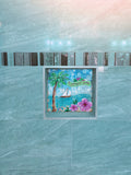 Summertime Tile Mural, High Quality (won't fade), Indoor or Outdoor, Beach Wall Tiles, Backsplash, Shower, Mosaic