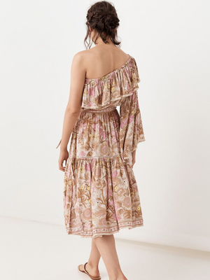 Spell & The Gypsy Wild Thing Jungle One Shoulder Dress