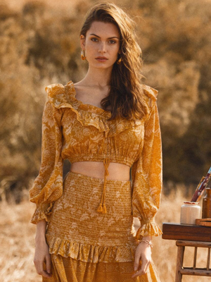 Spell & the Gypsy Lioness Peasant Blouse | Southern Hippie Austin, Texas