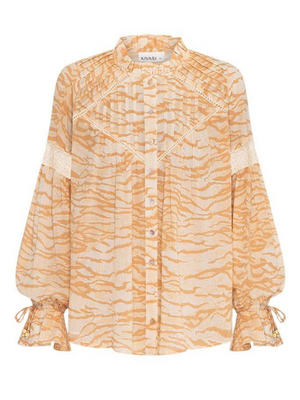 Brooklyn Zebra Blouse I Southern Hippie