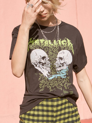 Daydreamer Metallica Skull Duel Boyfriend Tee from Southern Hippie in Austin, Texas