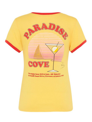 Paradise Cove Organic Shrunken Tee from Southern Hippie in Austin, Texas