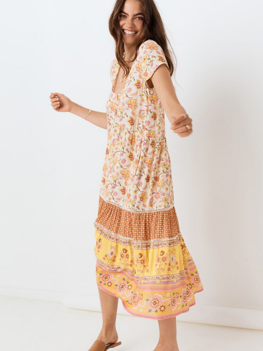 Spell and the Gypsy Portobello Road Babydoll Midi Dress I Southern Hippie