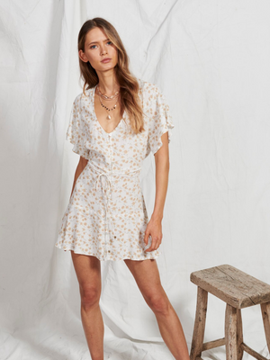 Kivari Jax Ditsy Loose Tie Dress I Southern Hippie in Austin, Texas