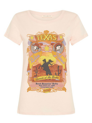 Spell & the Gypsy Texas Blue Moon Organic Girlfriend Tee I Southern Hippie