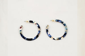 Blue Multi Acrylic Earrings