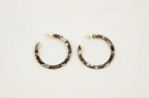 Grey Multi Acrylic Earrings