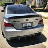 BMW E60 M5 E60 5 SERIES Carbon Fiber Trunk Lip in 2x2