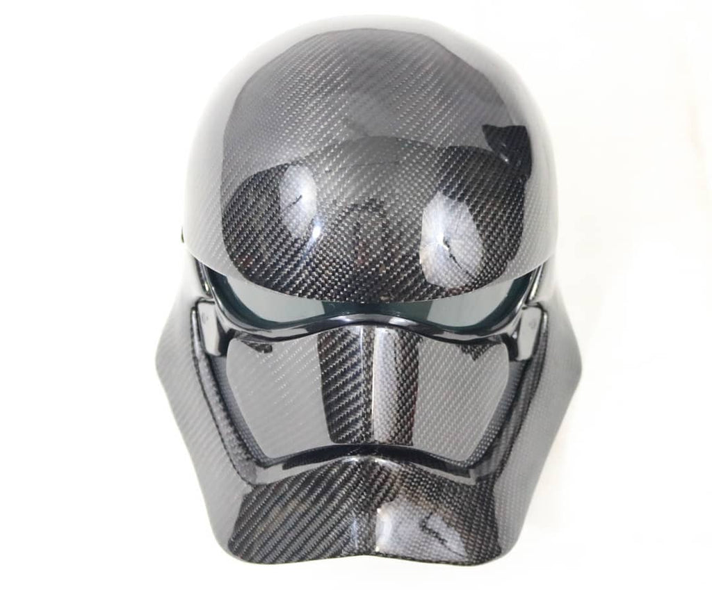 Dinmann CF | Disney Star Wars | Captain Phasma Mask Refinished in Carbon Fiber