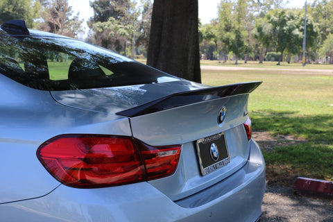 BMW F82 M4 Carbon Fiber Trunk Lip in 2x2