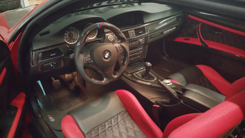 Custom Carbon Fiber Steering Wheel BMW E82 E88-1M E90 E91 E92 E93-M3 with 200$ refund option