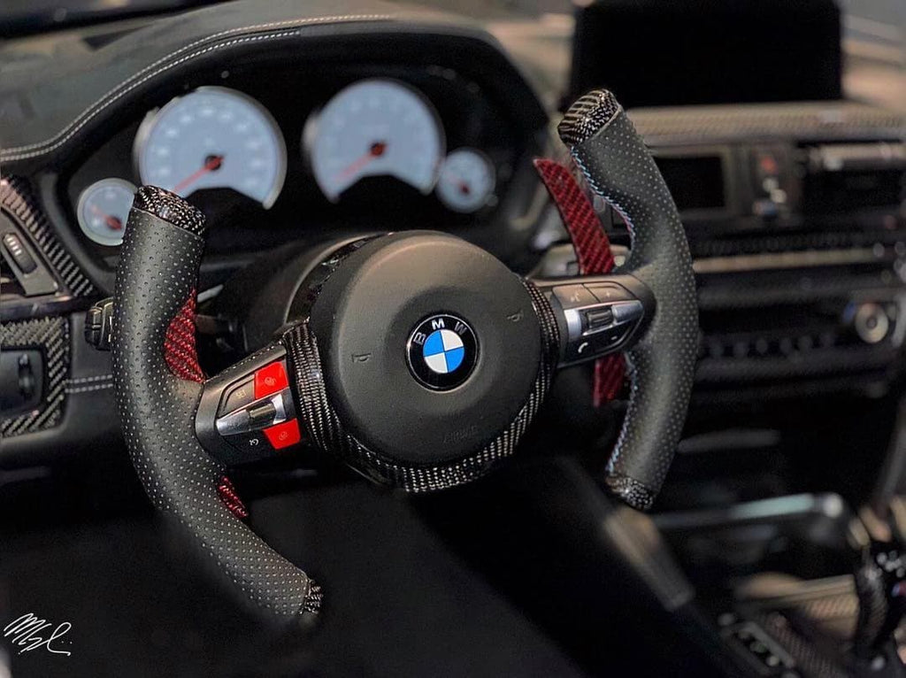 Dinmann CF  | F87 M2 | F8X M3 / M4 |  T-Fighter Steering Wheel