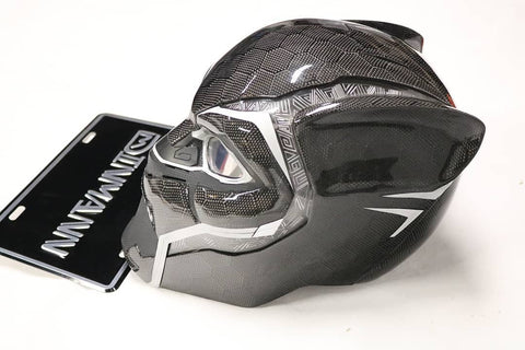 Dinmann CF | Marvel | Black Panther Helmet refinished in Carbon Fiber