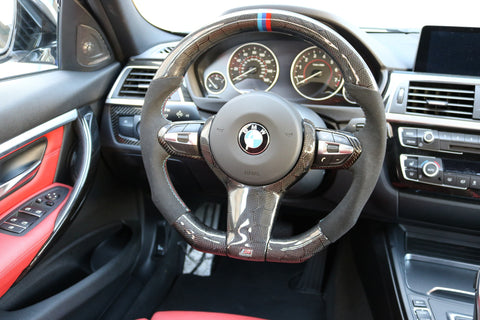 Dinmann Honeycomb CF Steering Wheel | F87 M2 | F8X M3 / M4 | 2, 3 & 4 Series - with 650$ refund option