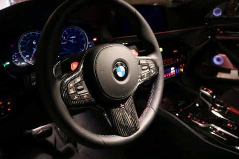 Dinmann CF - BMW F90 M5 and G30 5 Series Steering Wheel Trim