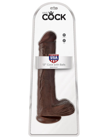 13 in. Cock with Balls Brown |  @ TrySexMachines | Australia
