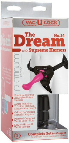 Vac-U-Lock Platinum - The Dream No 14 with Supreme Harness Pink | Strap-Ons @ TrySexMachines | Australia
