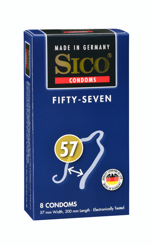 SICO Safety 57 (8pc Box) |  @ TrySexMachines | Australia
