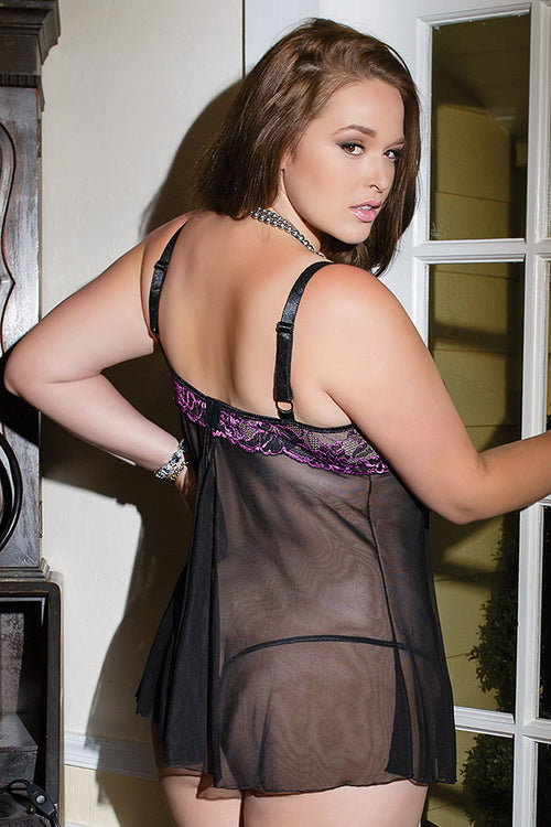 Lace Babydoll & G-String