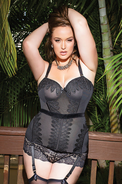 Diva Bustier with Crochet Trim