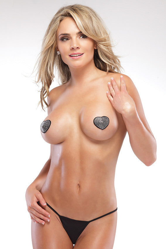 Rhinestone Heart Shaped Pasties
