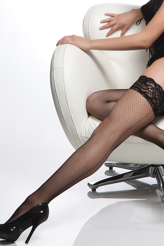 "Fishnet ""Stay up"" thigh High Stockings"