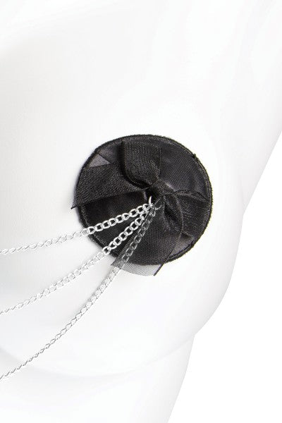 Satin Pasties With Bow/Chains